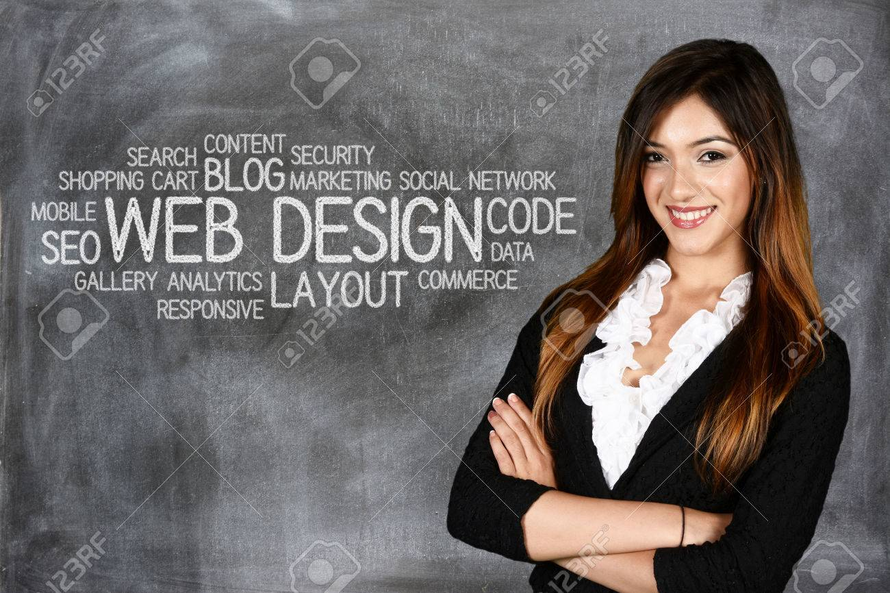 Young woman who works as a web designer - 46319745