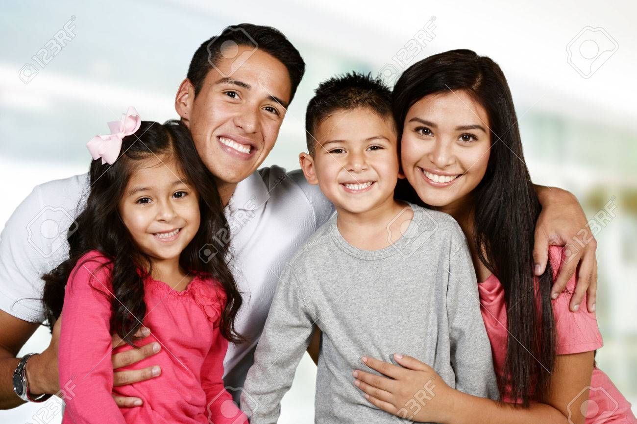 Young hispanic family who love being with each other - 46959925