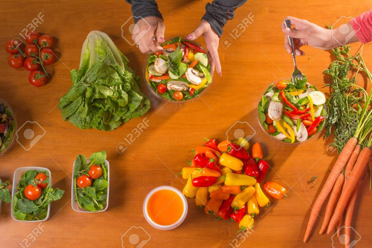 Women who are working on planning their meals - 51512185