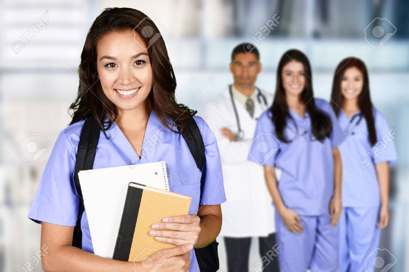 Woman who is graduating from nursing school Stock Photo - 56307760