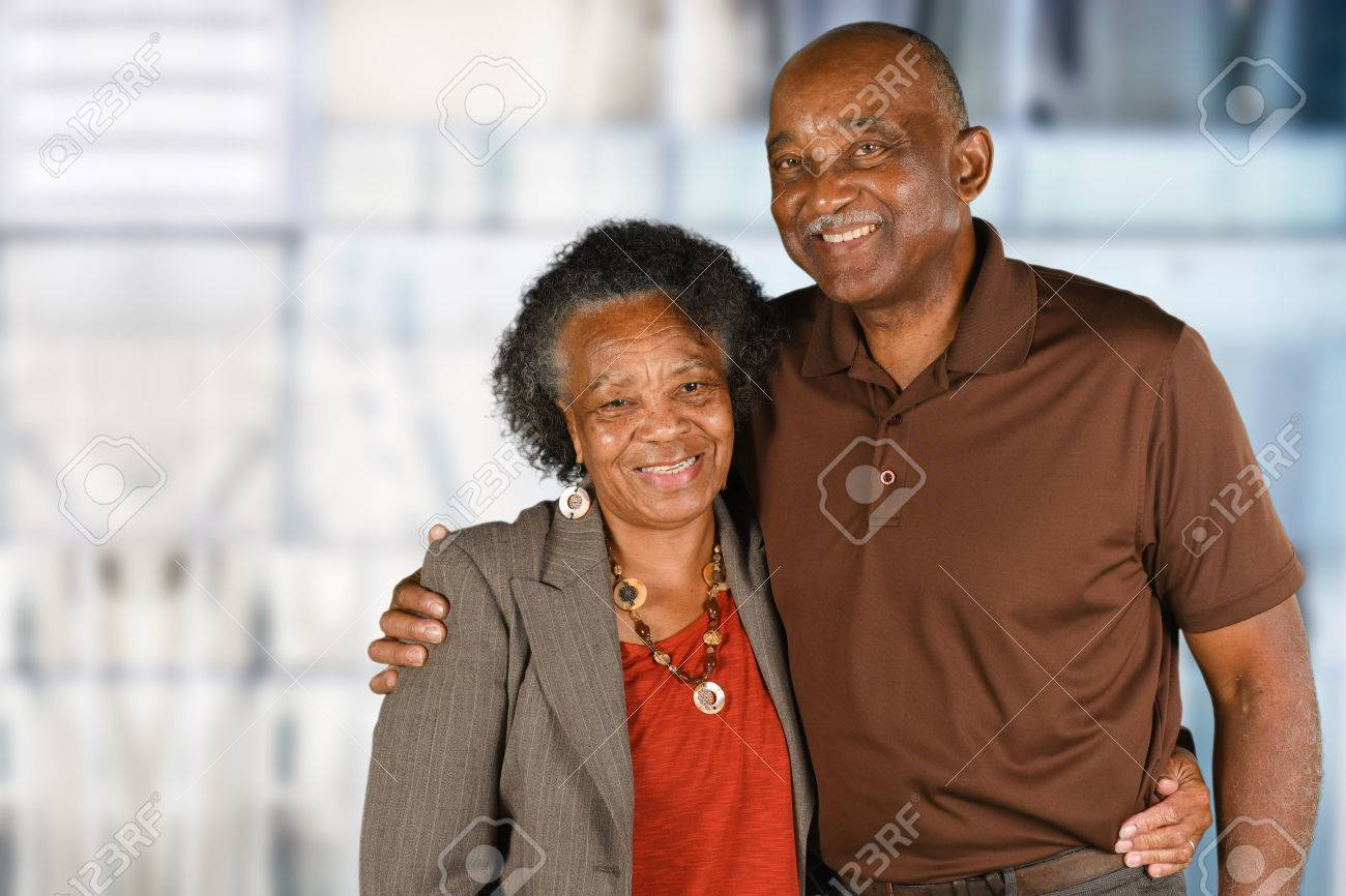 Elderly African American Man and woman posing together Stock Photo - 62452199