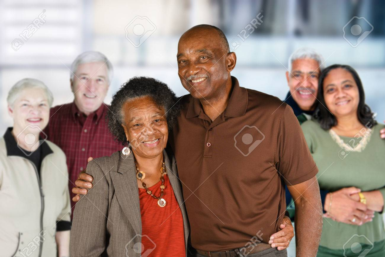 Group of elderly couples of all races Stock Photo - 65416100