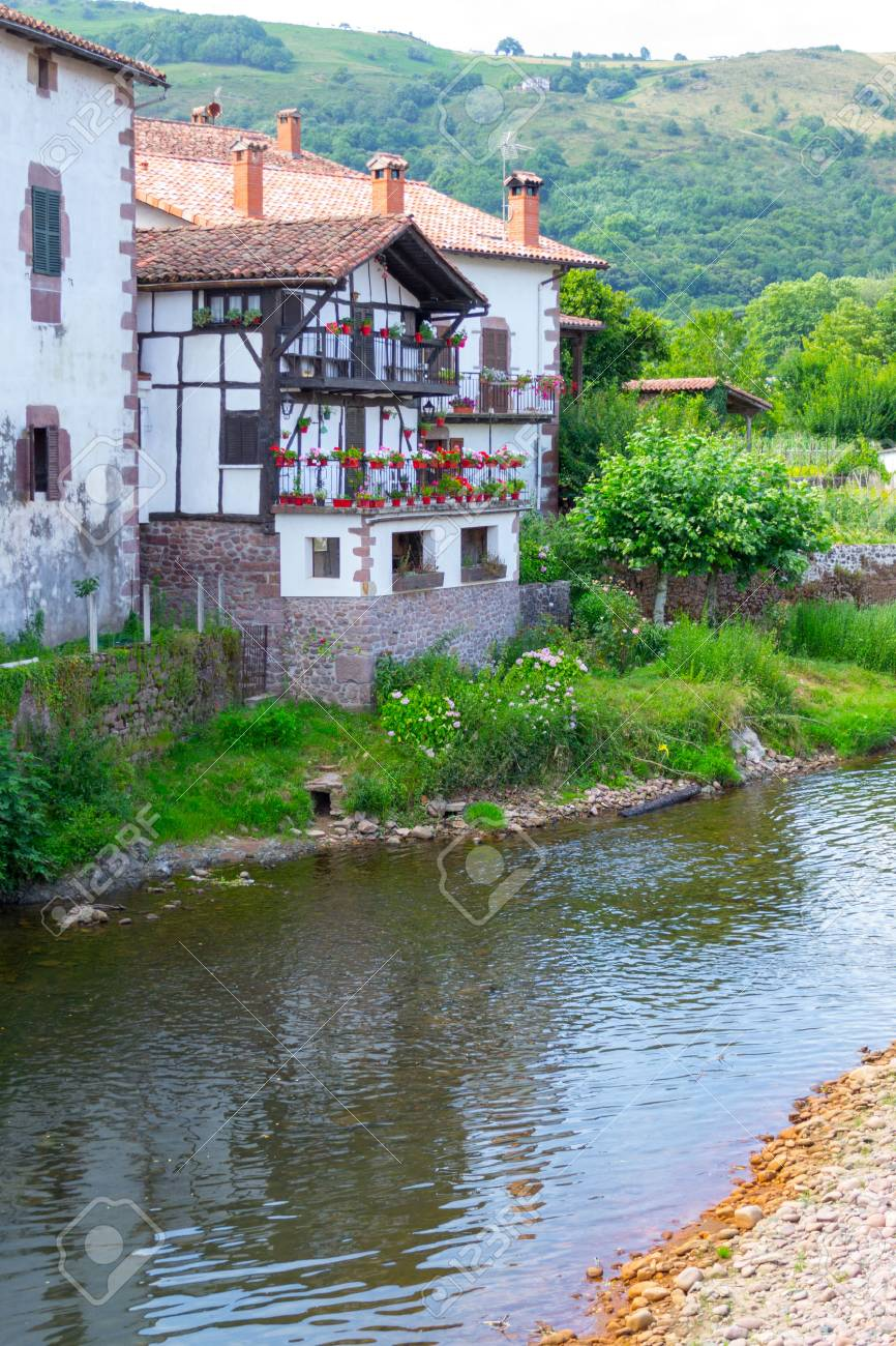 Elizondo is the capital of the Baztan Valley located in the Pyrenees - 42859378