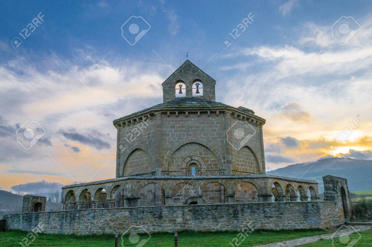 12th century Romanesque church located in the North of Spain which origin remains controversial. - 52970673