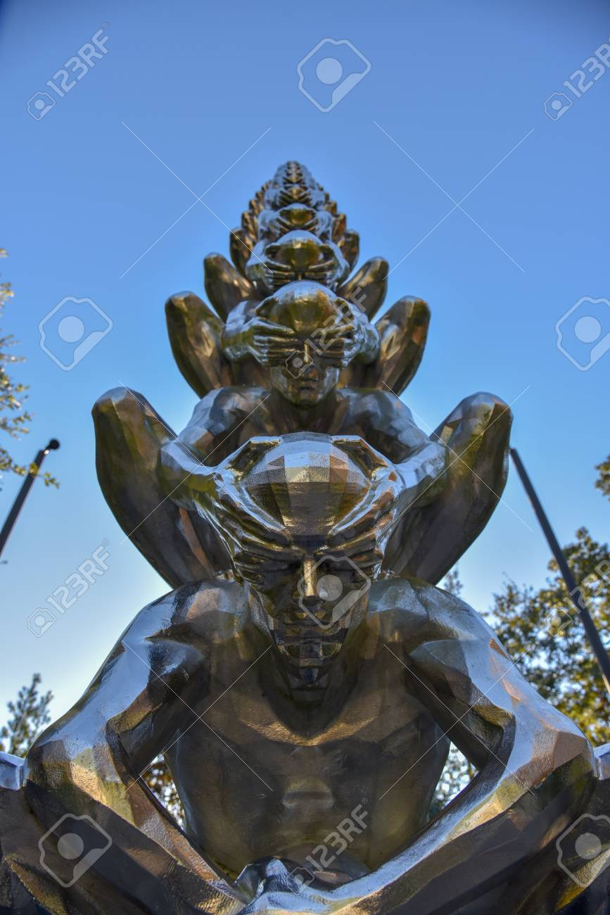 Stock Photo - Sydeny and Walda Besthoff sculpture garden in New Orleans Museum of Art (NOMA)