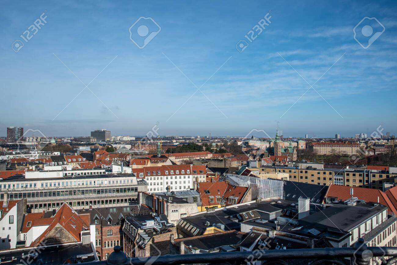 Views of Copenhagen from the top of the Round Tower - 154528241