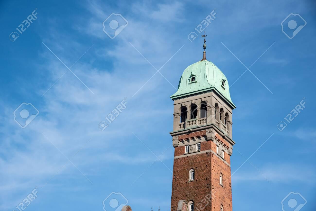 Facade of the city hall in Copenhagen (DK) - 154528396
