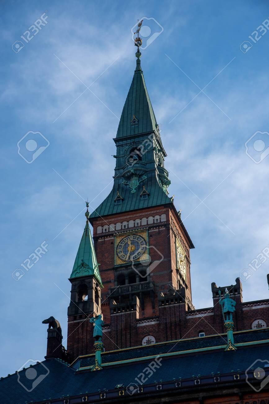 Facade of the city hall in Copenhagen (DK) - 154528581