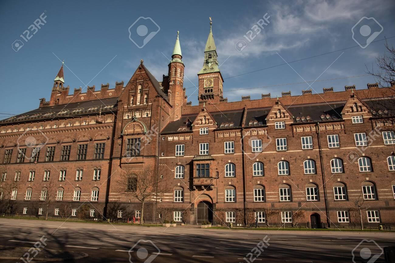 Facade of the city hall in Copenhagen (DK) - 154537371