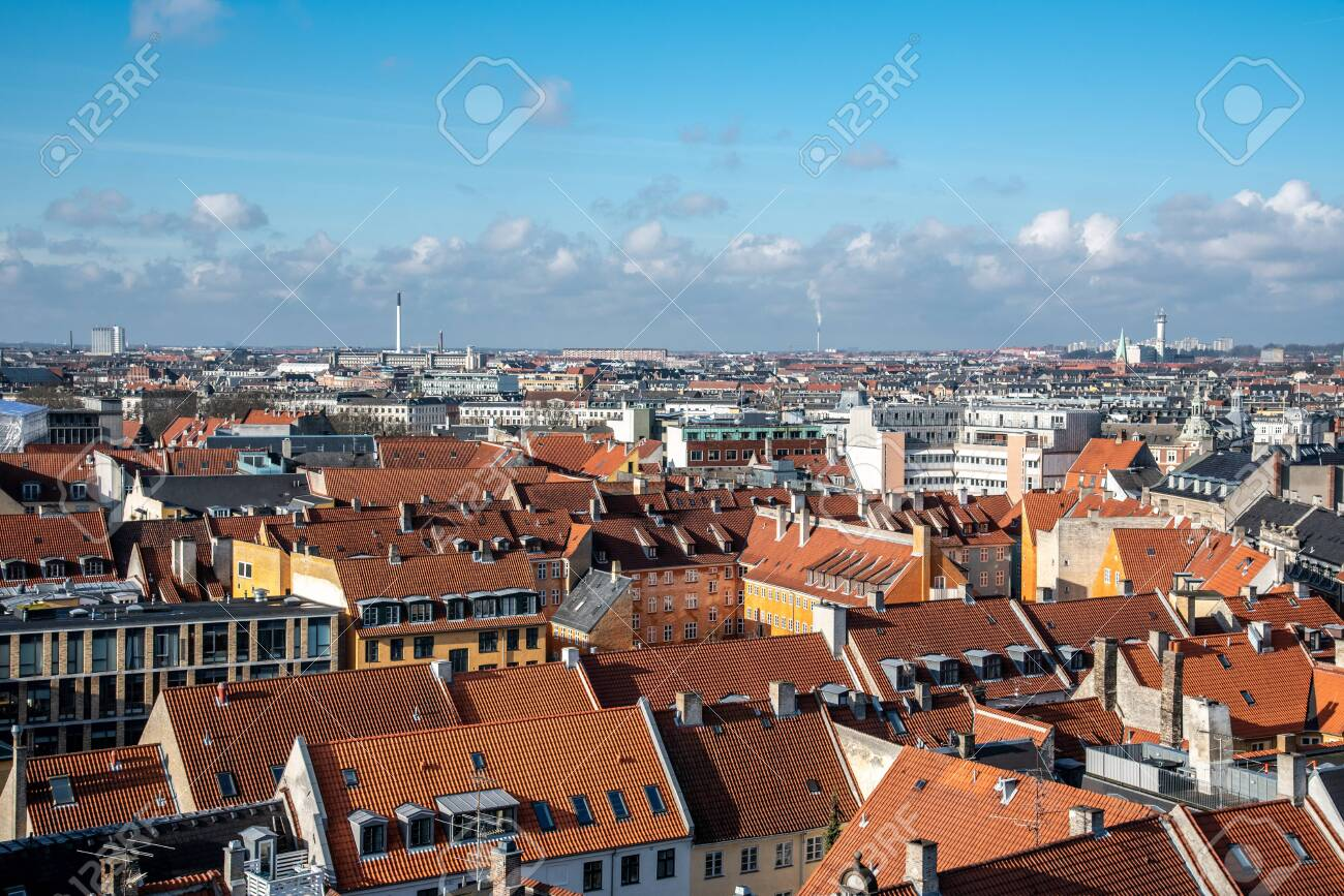 Views of Copenhagen from the top of the Round Tower - 154537664
