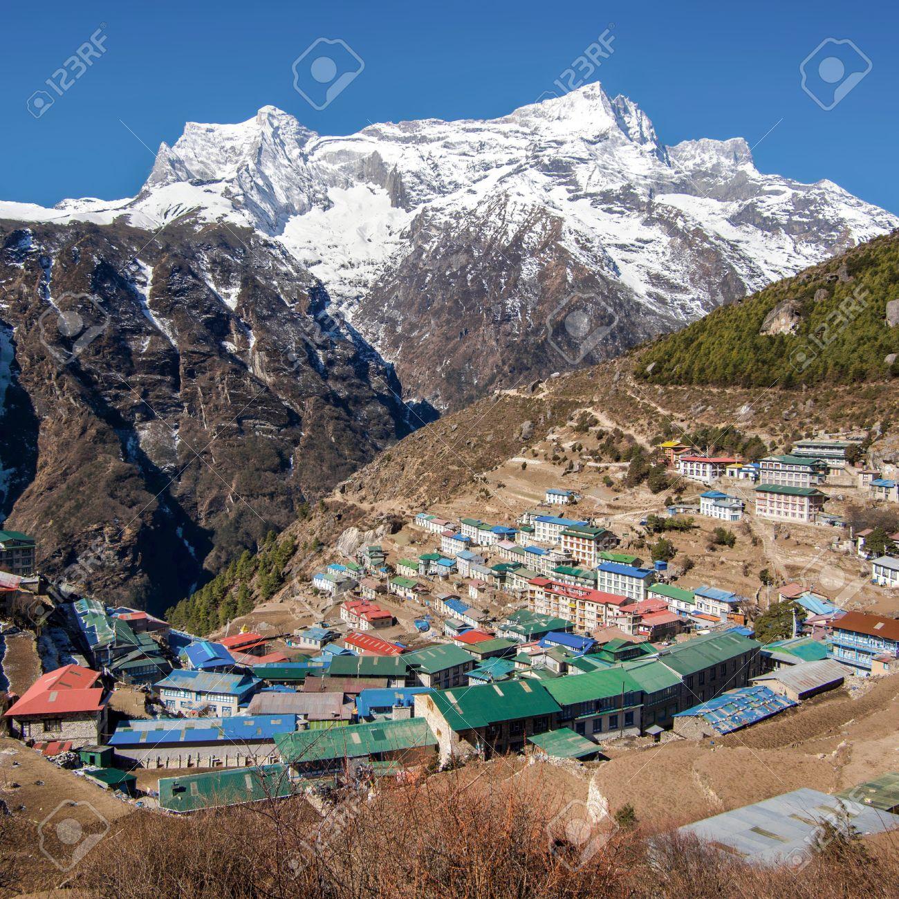 The Himalayan Settlement of Namche Bazaar, Everest Region, Nepal