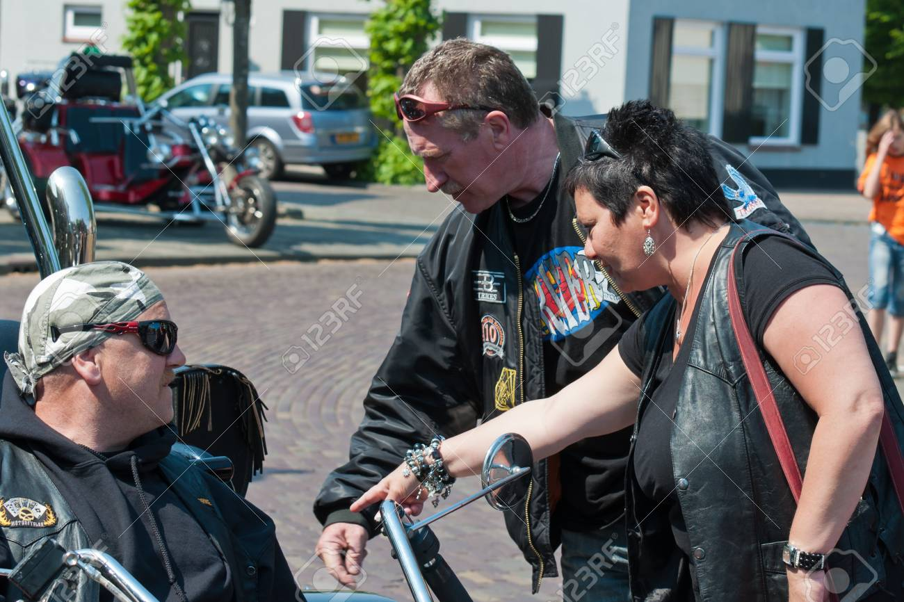 Made, North-Brabant, Netherlands, April 30, 2011,  Portrait of trike drivers at Queensday Stock Photo - 9444771