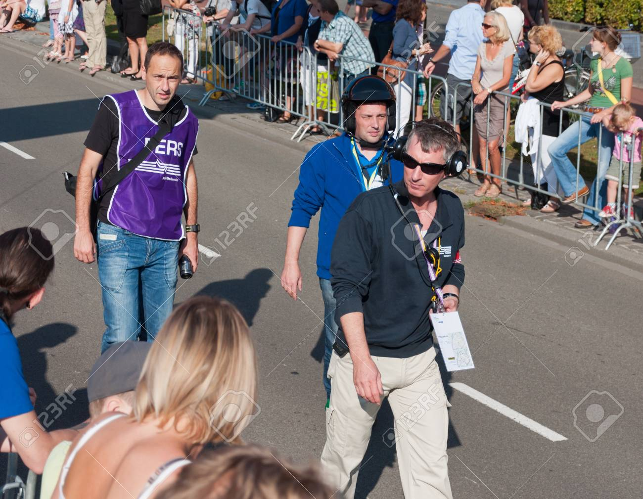 the officials of the singelloop breda are also ready to go Stock Photo - 10753103