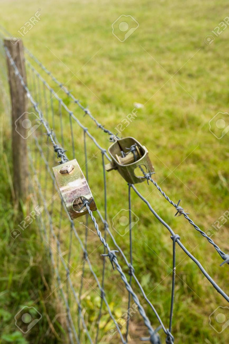 Picture of: Two New Wire Stretchers Tensioning The Barbed Wire Of The Fence Stock Photo Picture And Royalty Free Image Image 44176922