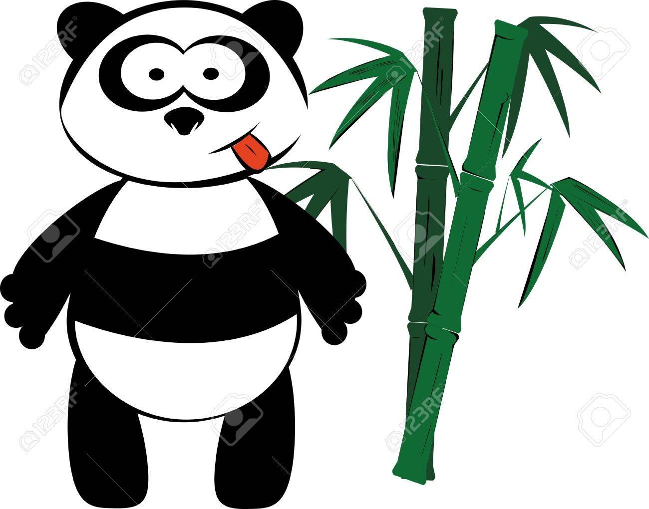Panda and bamboo Stock Vector - 15332053