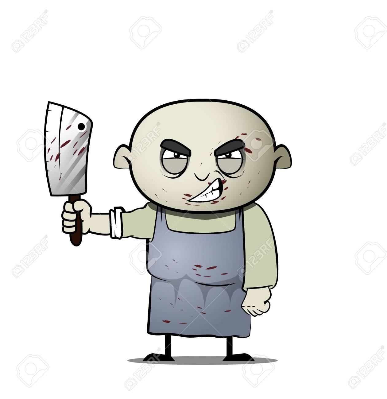 Dessin Boucher boucher de type maniaque de dessin animé. clip art libres de droits