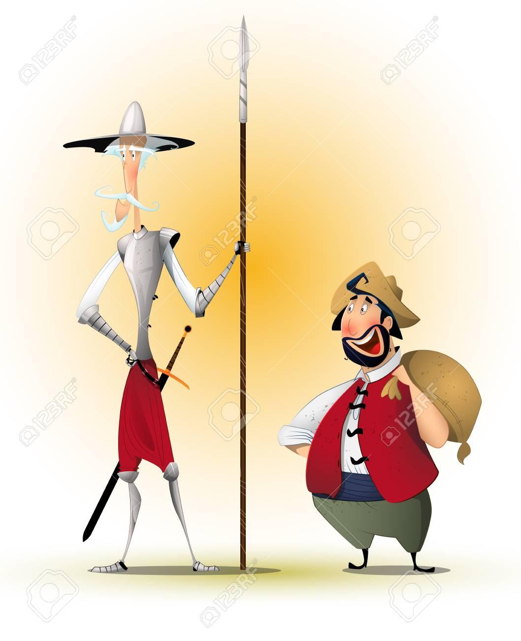 Don Quixote and Sancho Panza - 96955081