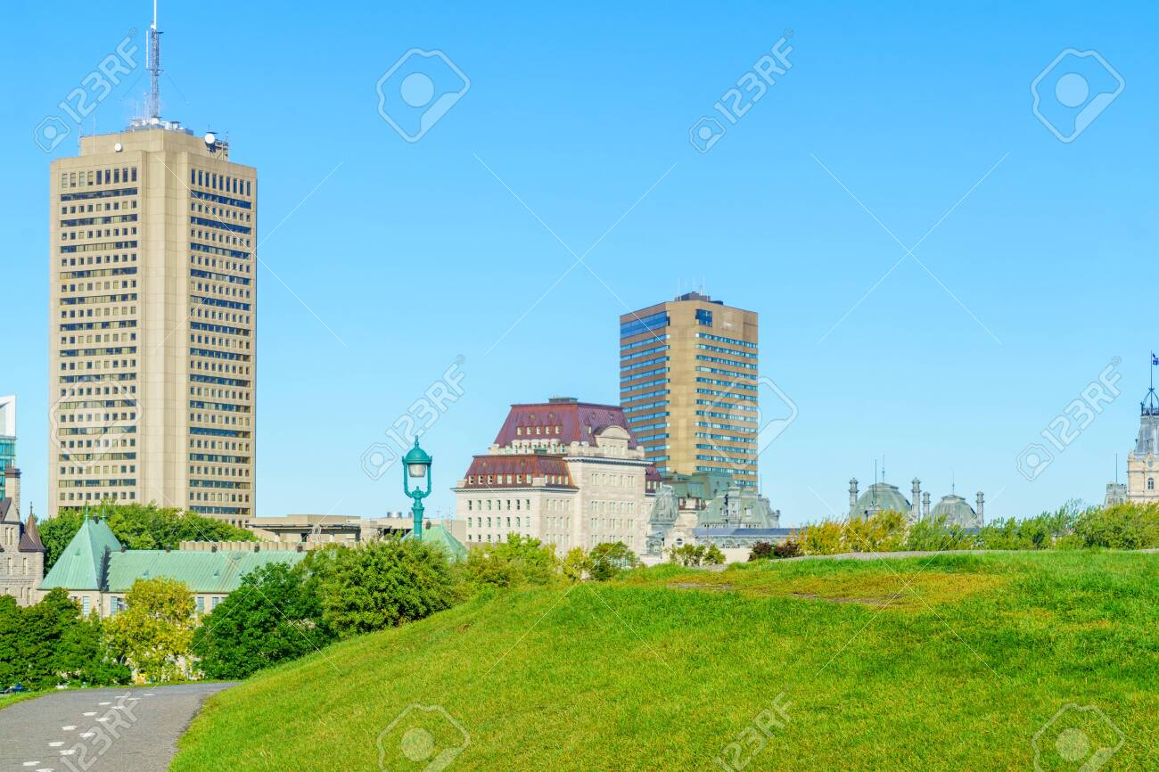 View of the Plains of Abraham park in Quebec City, Quebec, Canada - 156730998
