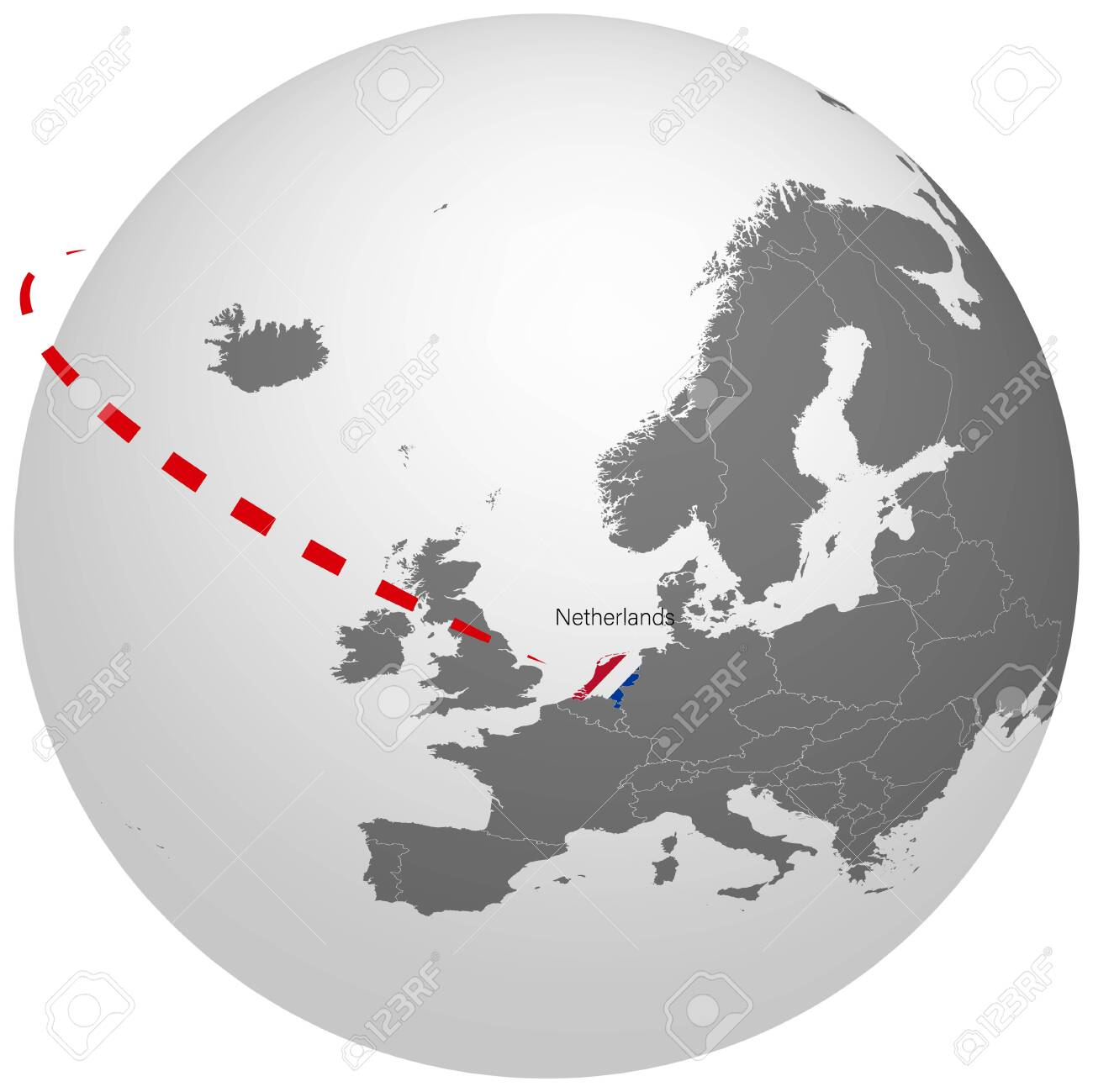 Picture of: World Map Outline Of Holland Netherlands In The Color Of The Royalty Free Cliparts Vectors And Stock Illustration Image 141792142