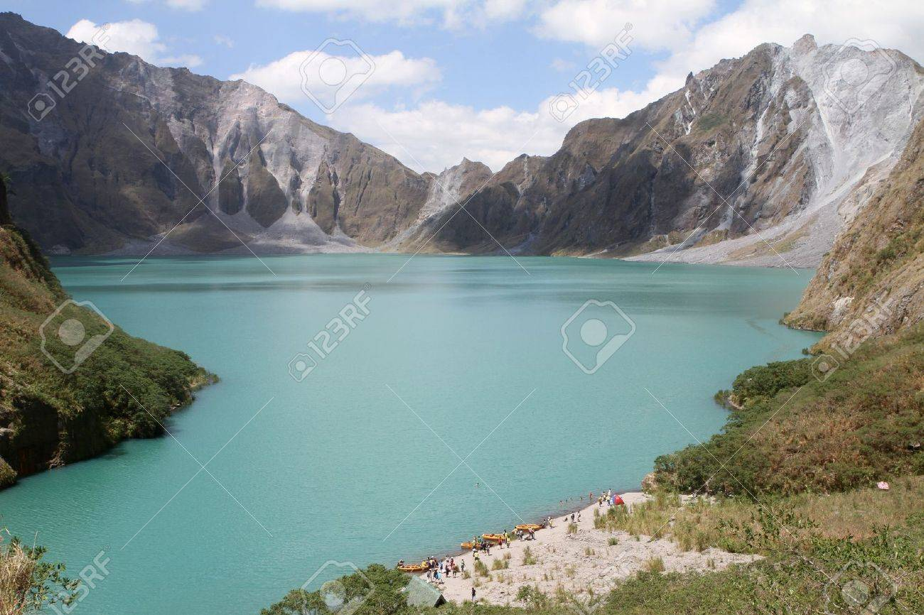 The crater of Mt. Pinatubo in the Philippines Stock Photo - 11789268