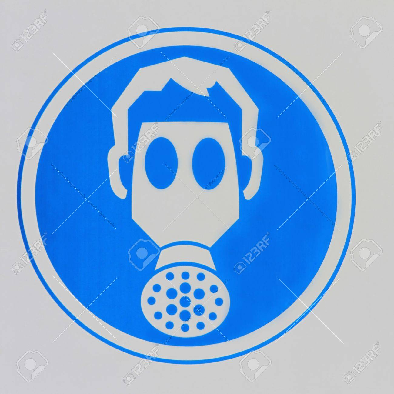 Actual gas mask sign in an industrial workplace Stock Photo - 13224254