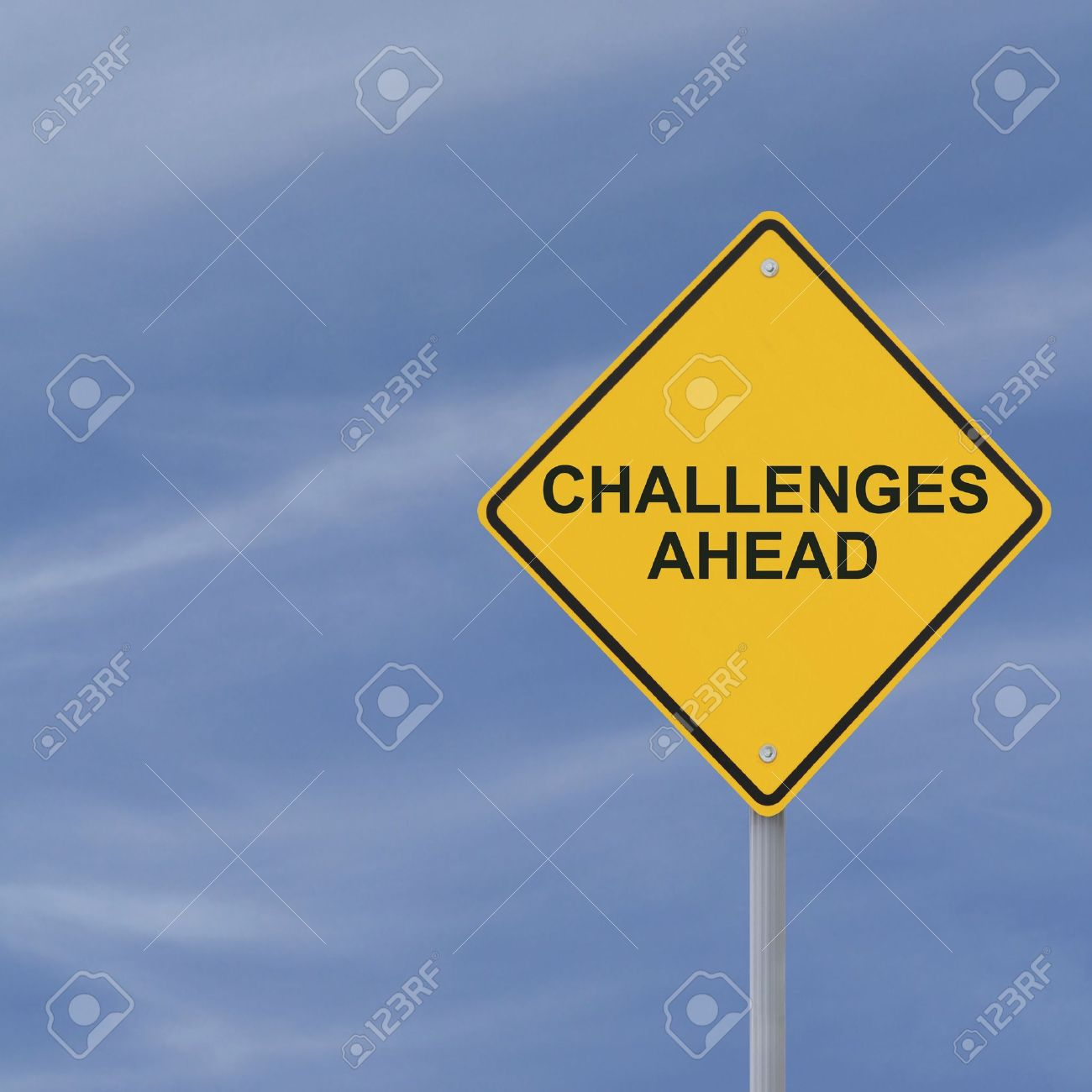 �Challenges Ahead� warning sign Stock Photo - 13322144