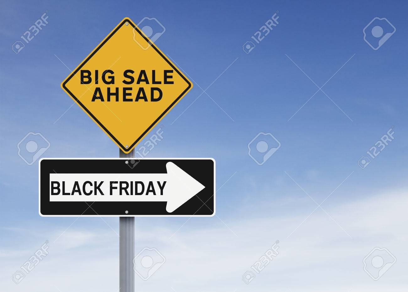 Conceptual Road Signs On Black Friday Or Thanksgiving Sale Stock Photo Picture And Royalty Free Image Image 33389172