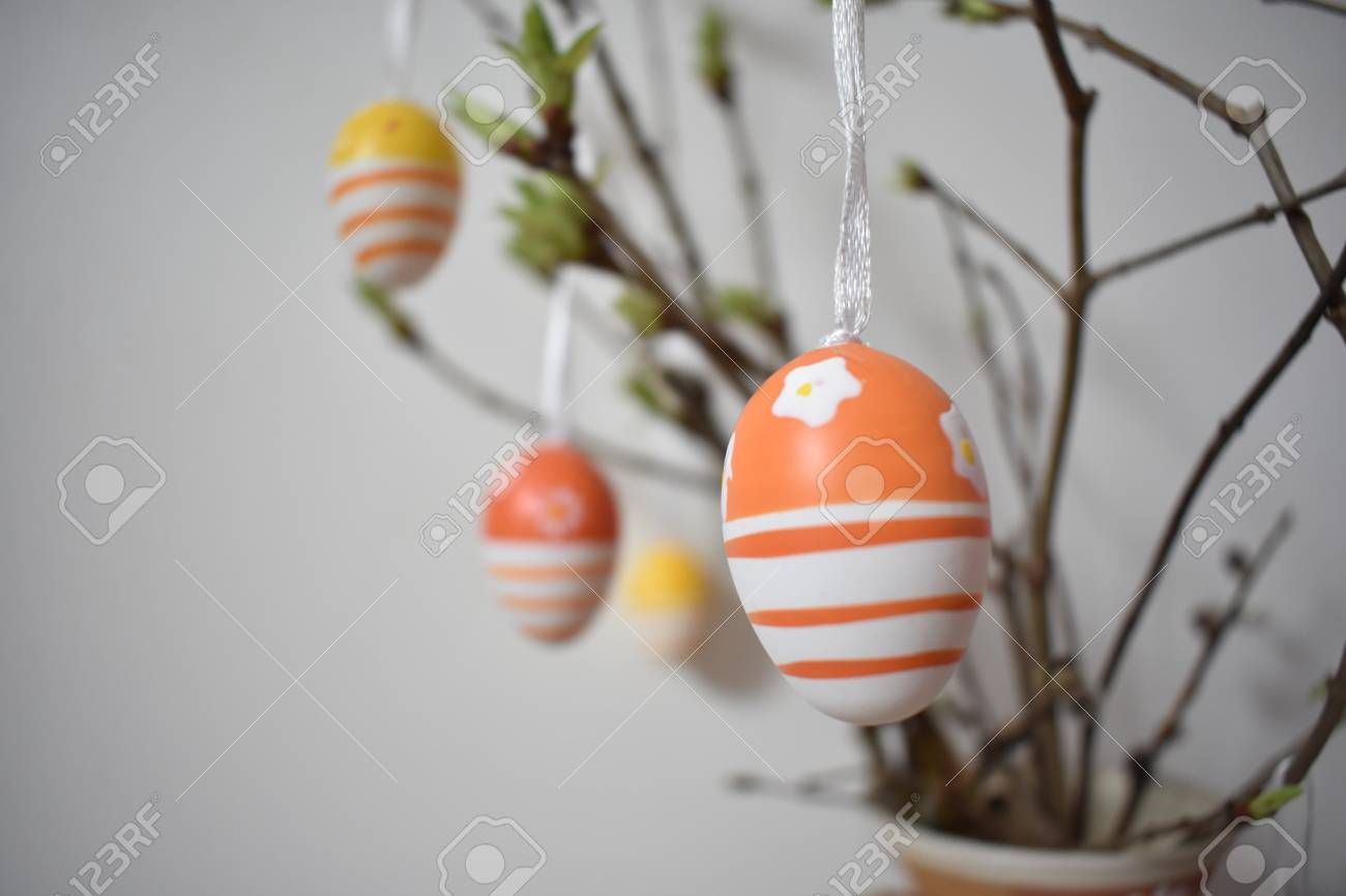 Easter Decoration With Synthetic Eggs