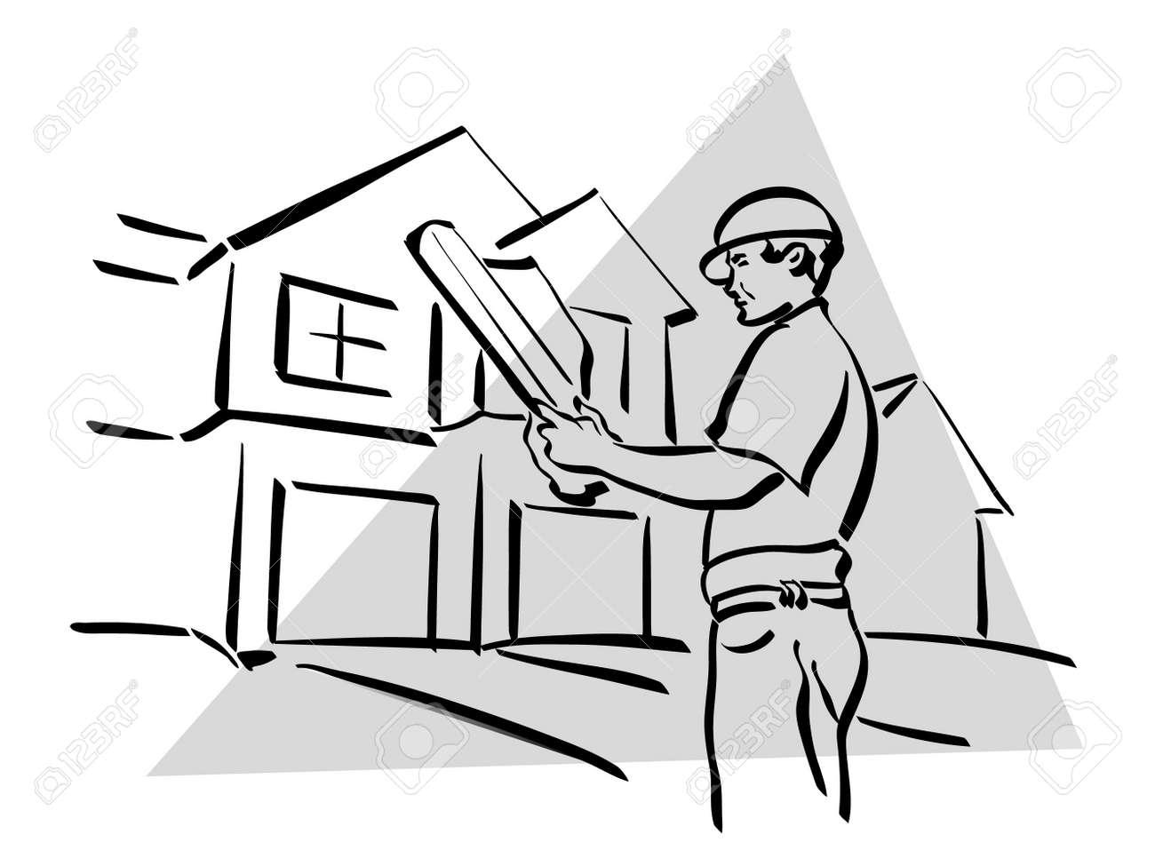 construction worker Stock Vector - 13231705