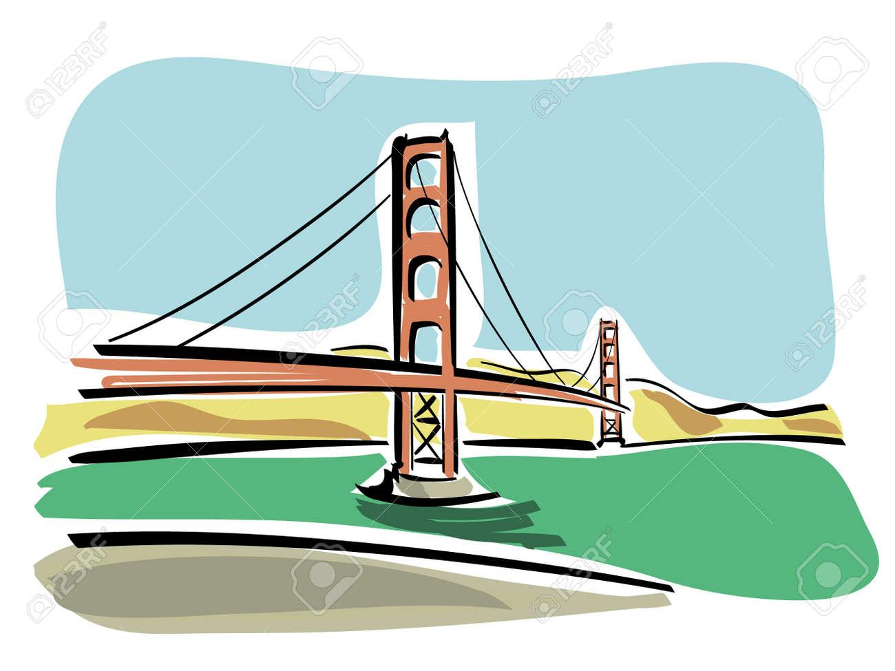 San Francisco  Golden Gate Stock Vector - 15414604