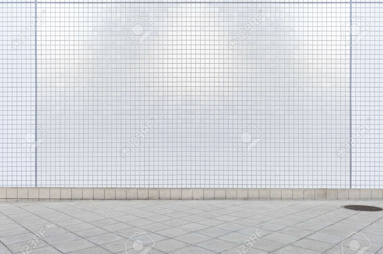 street wall background ,Industrial background, empty grunge urban street with warehouse brick wall - 121949972