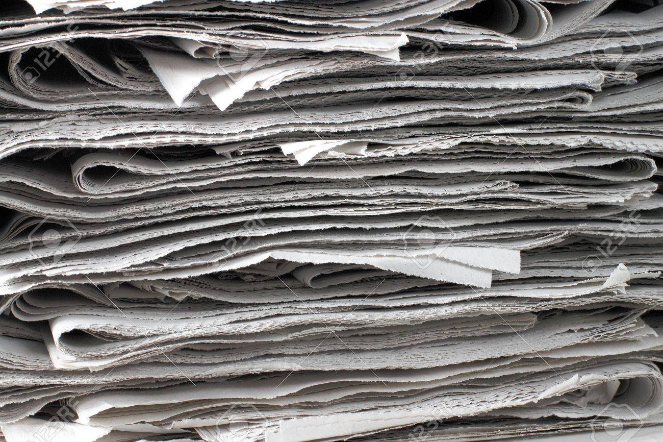 texture shot of a pile of newspaper Stock Photo - 8143724