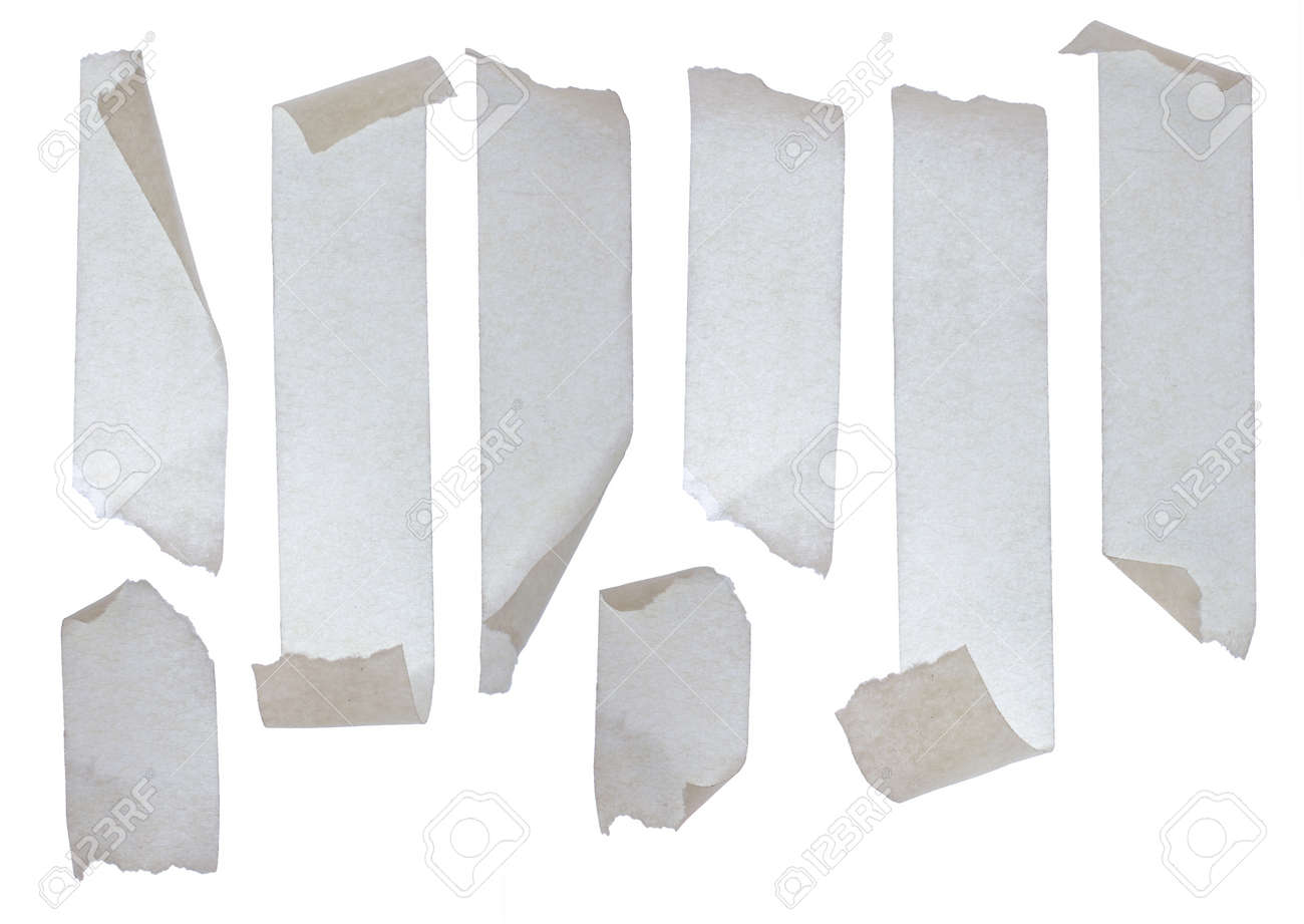 Strips of masking tape. Isolated on white background. Standard-Bild - 9090891
