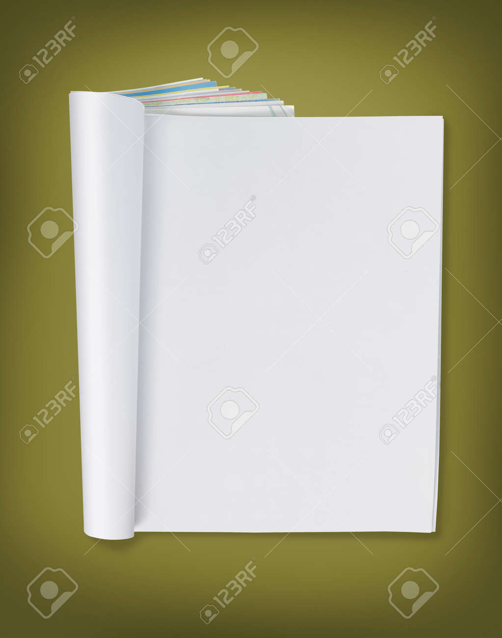 blank page of magazine. ready for design Standard-Bild - 9204113