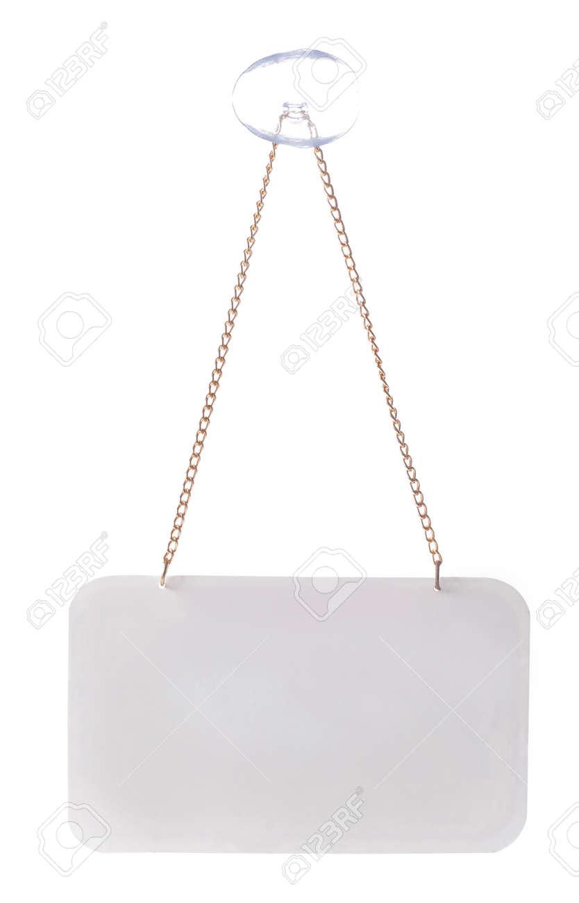empty door sign. isolated over white background Standard-Bild - 9469476