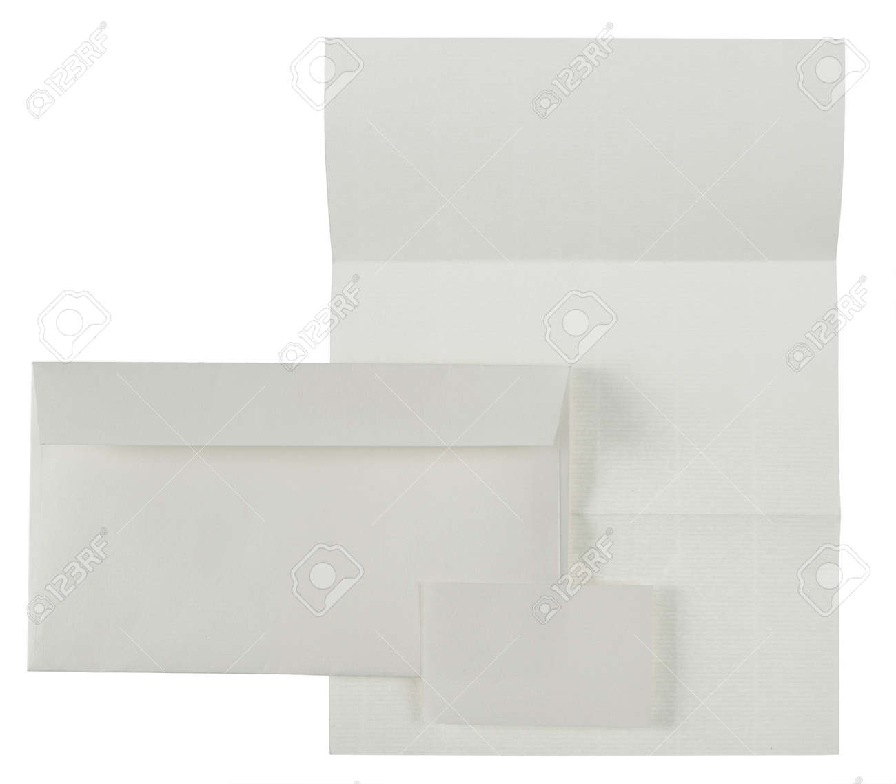 business stationary set. envelope, paper sheet and business card. isolated over white background Standard-Bild - 9469582
