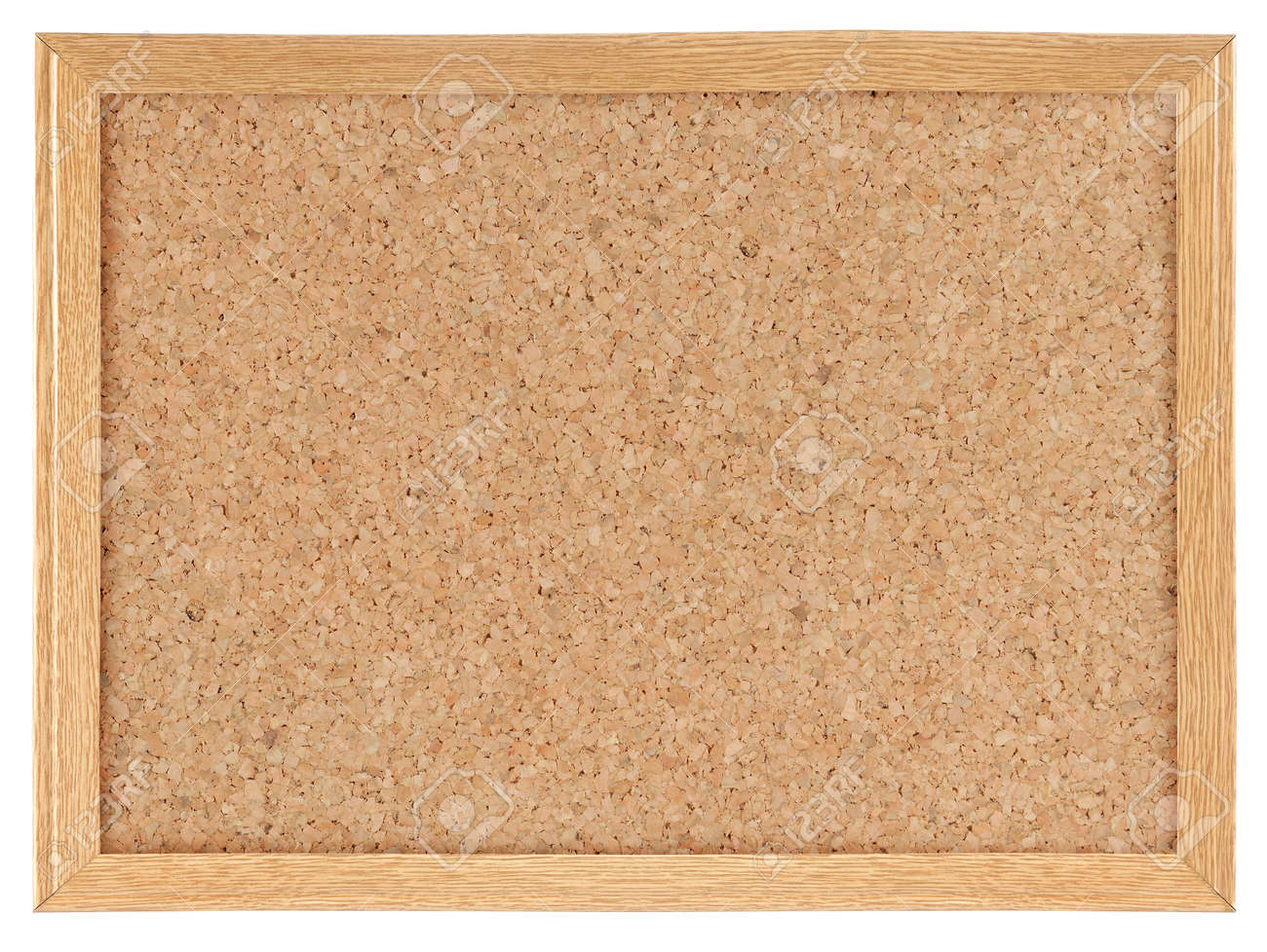 Cork board isolated over white background Standard-Bild - 9607754