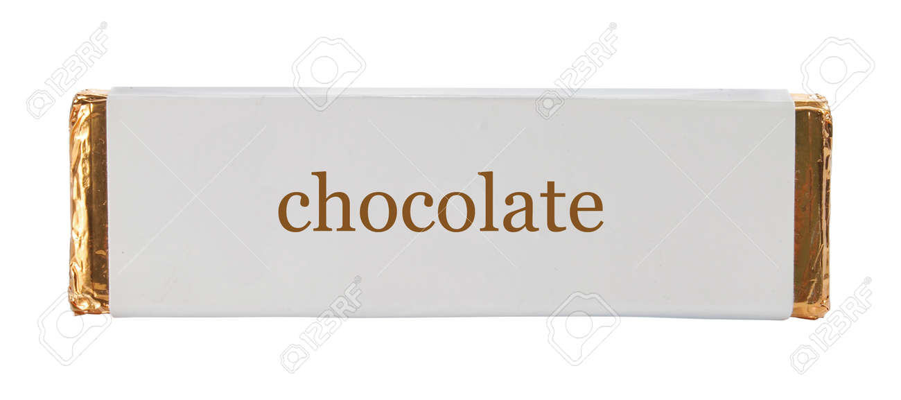 chocolate Wrapping aluminum foil and paper. isolated over white Standard-Bild - 9686713