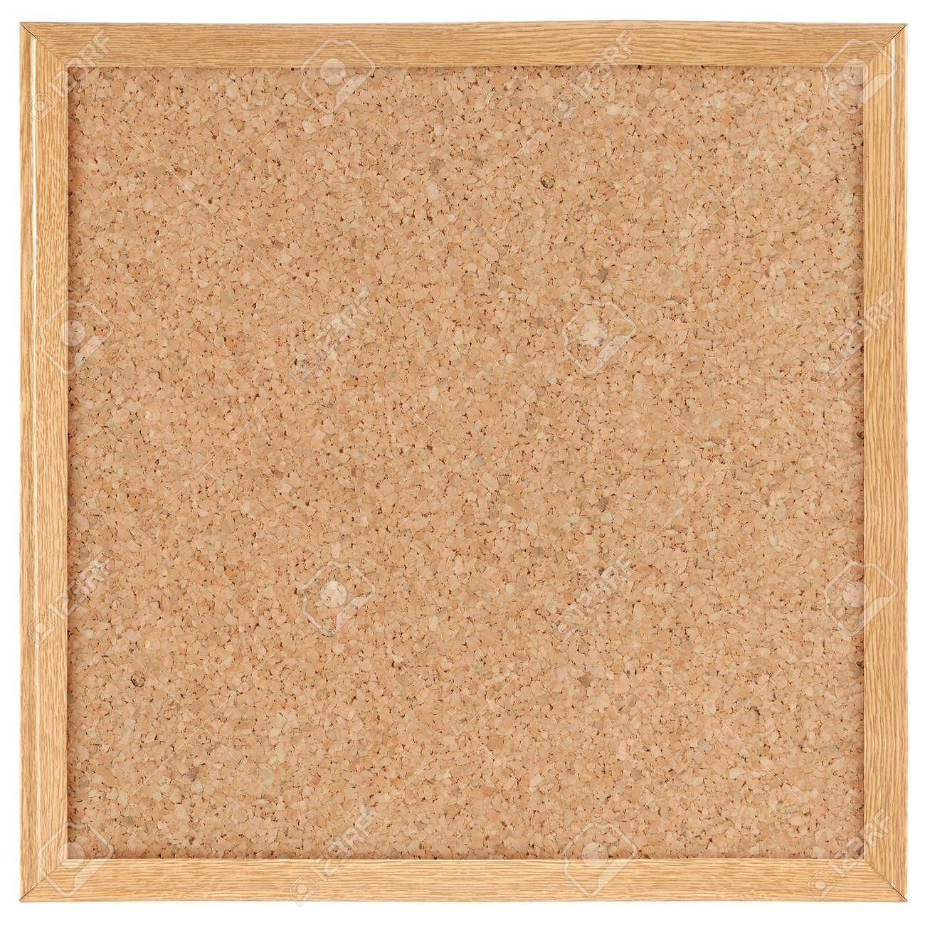 square cork board. isolated over white Standard-Bild - 9686739