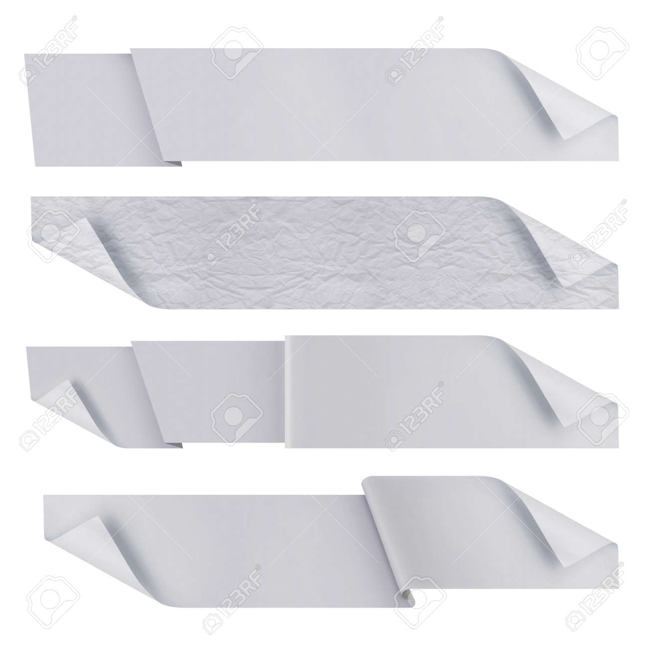 white polygonal origami ribbons. ready for your text Standard-Bild - 9848819