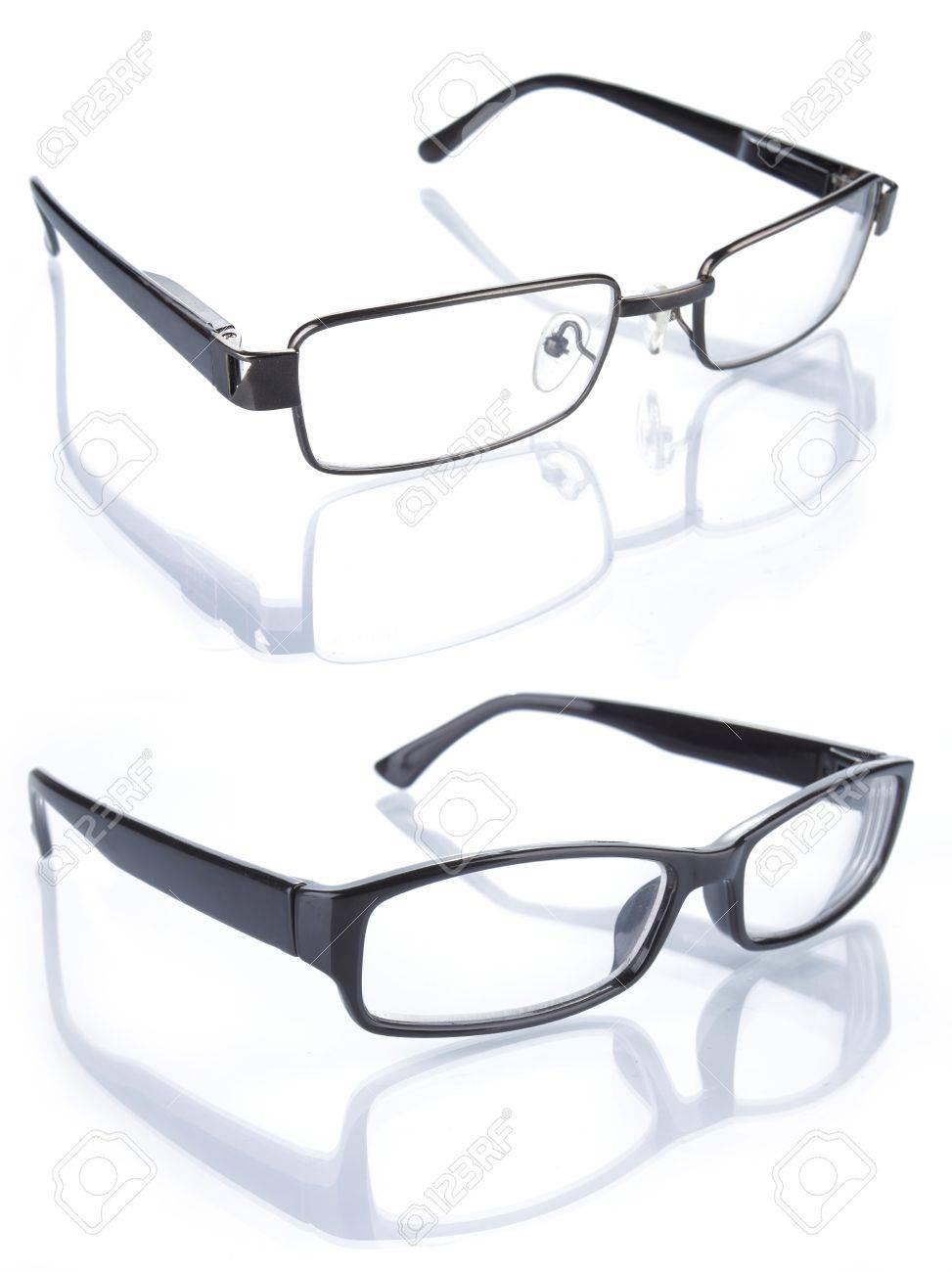 set of glasses isolated on white background Stock Photo - 9899699