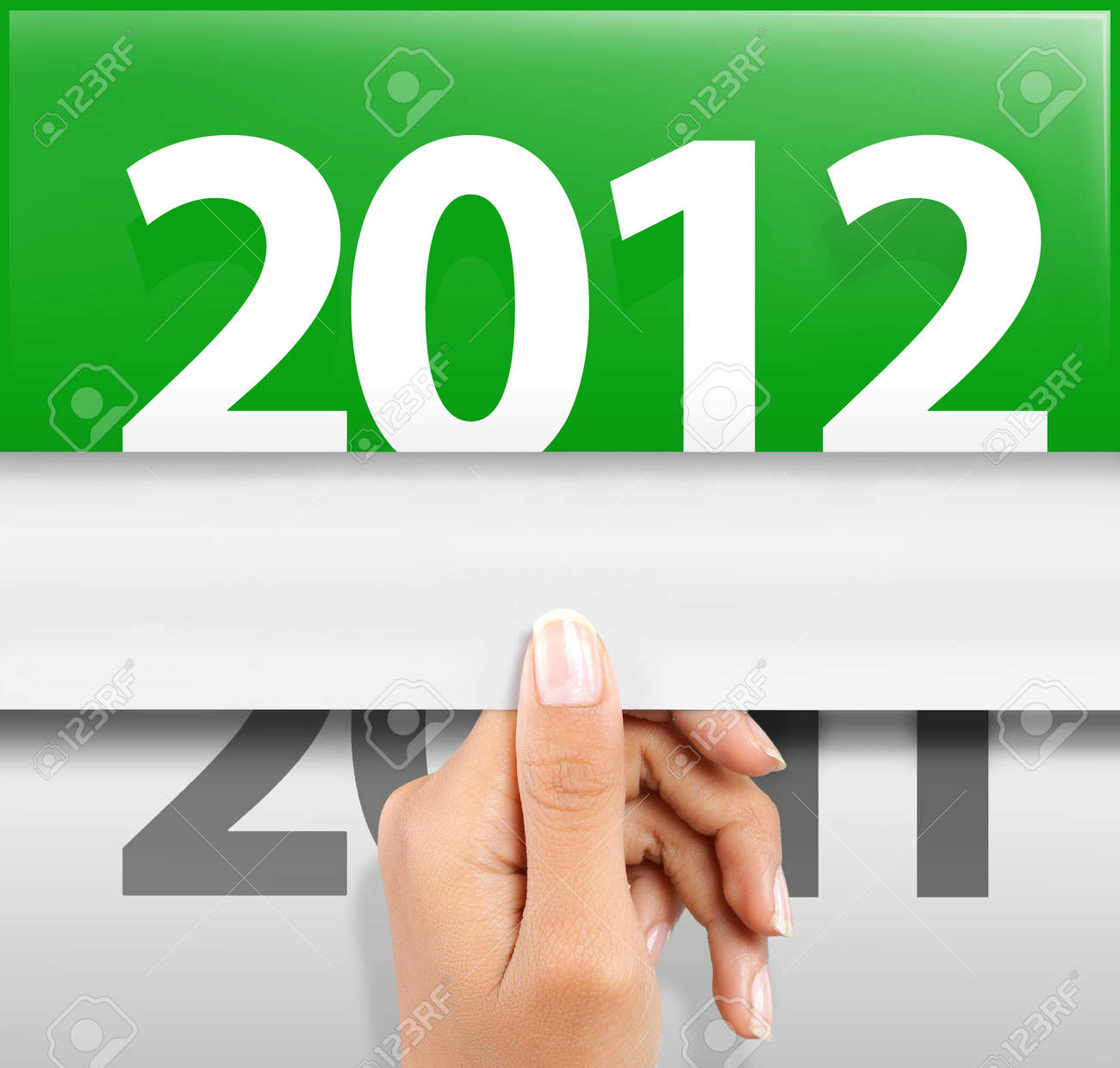 symbol of happy new year 2012 Stock Photo - 10693131