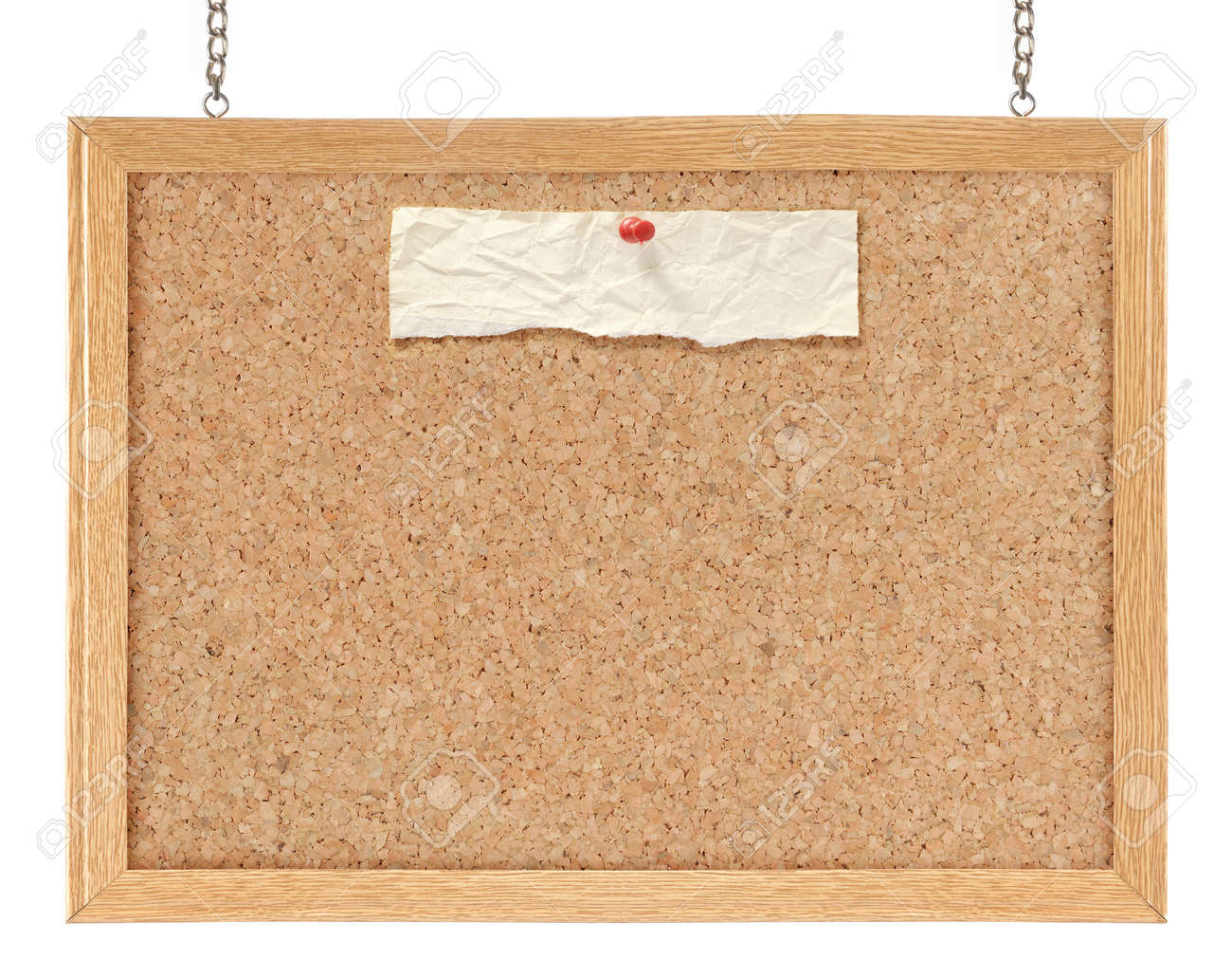Cork board isolated over white background Standard-Bild - 10693137