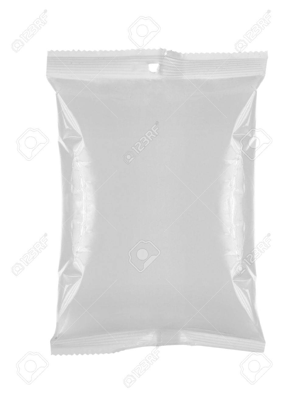 plastic bag snack package. for another blank packaging visit my gallery Standard-Bild - 11154446
