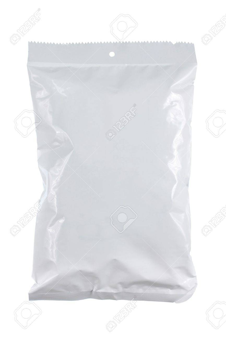 potato chips plastic pack. for another white packaging visit my gallery Standard-Bild - 11154452