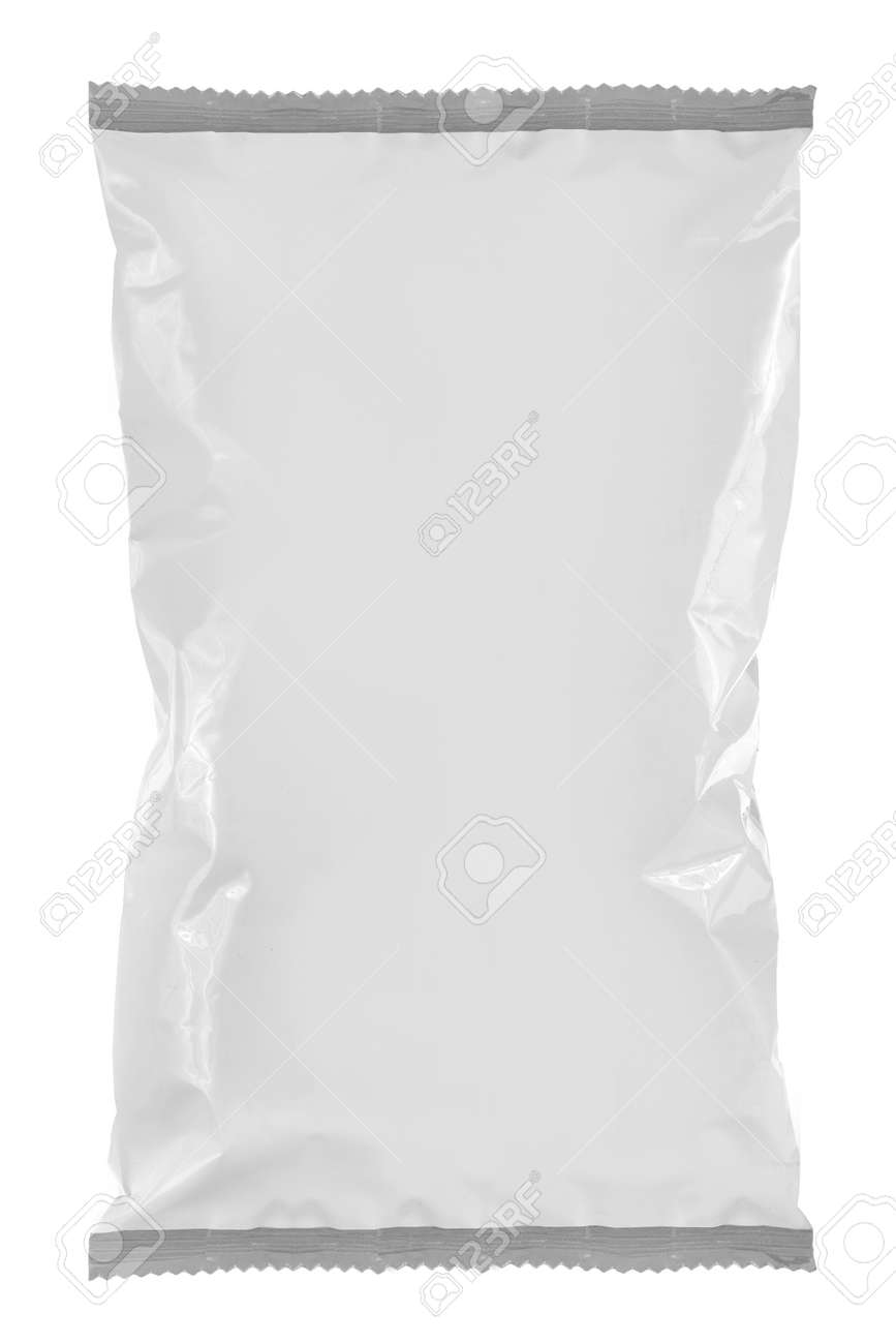 Snack package, ready for your design isolated on white background. for another blank packaging visit my gallery Standard-Bild - 11154447