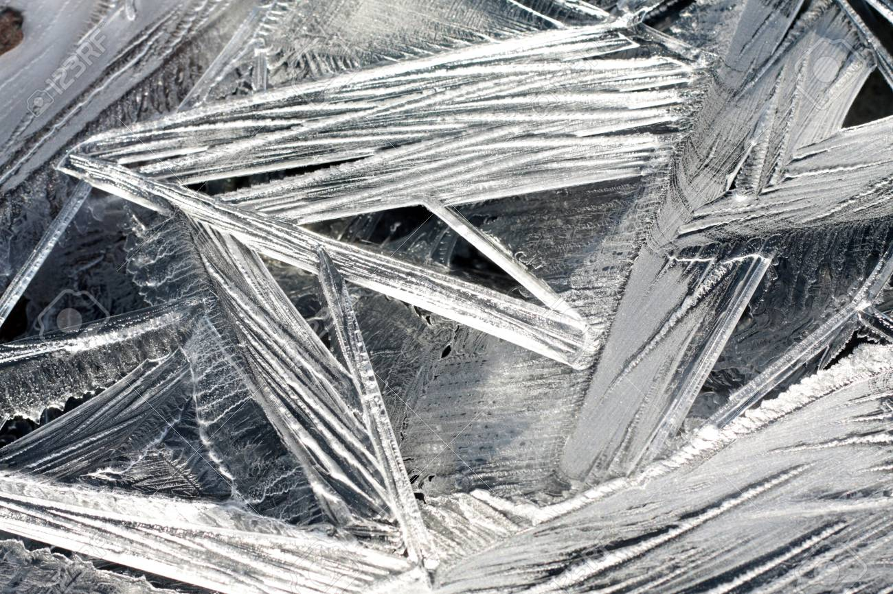 Cold, clear ice crystals and intricate patterns. Stock Photo - 2496621