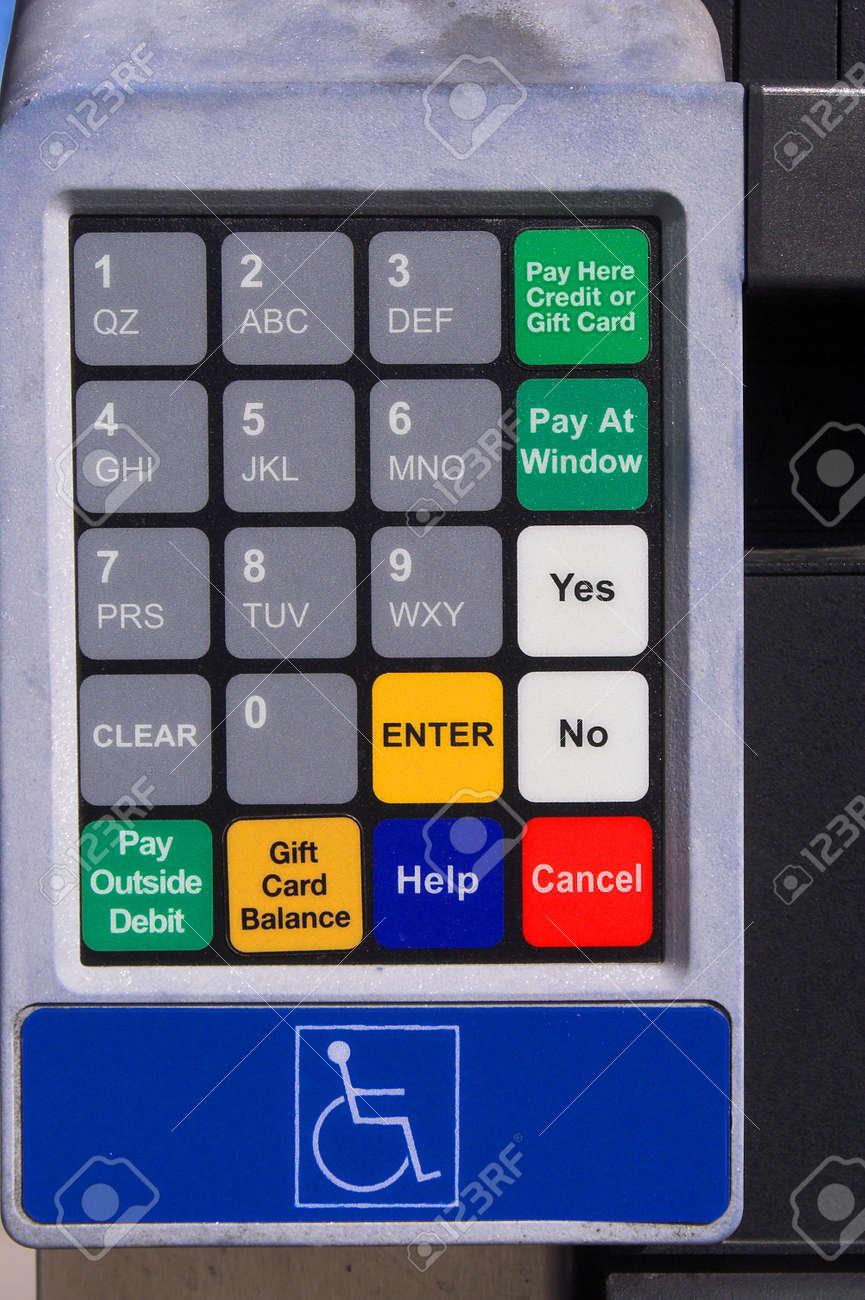 ATM Credit card keypad Stock Photo - 797996