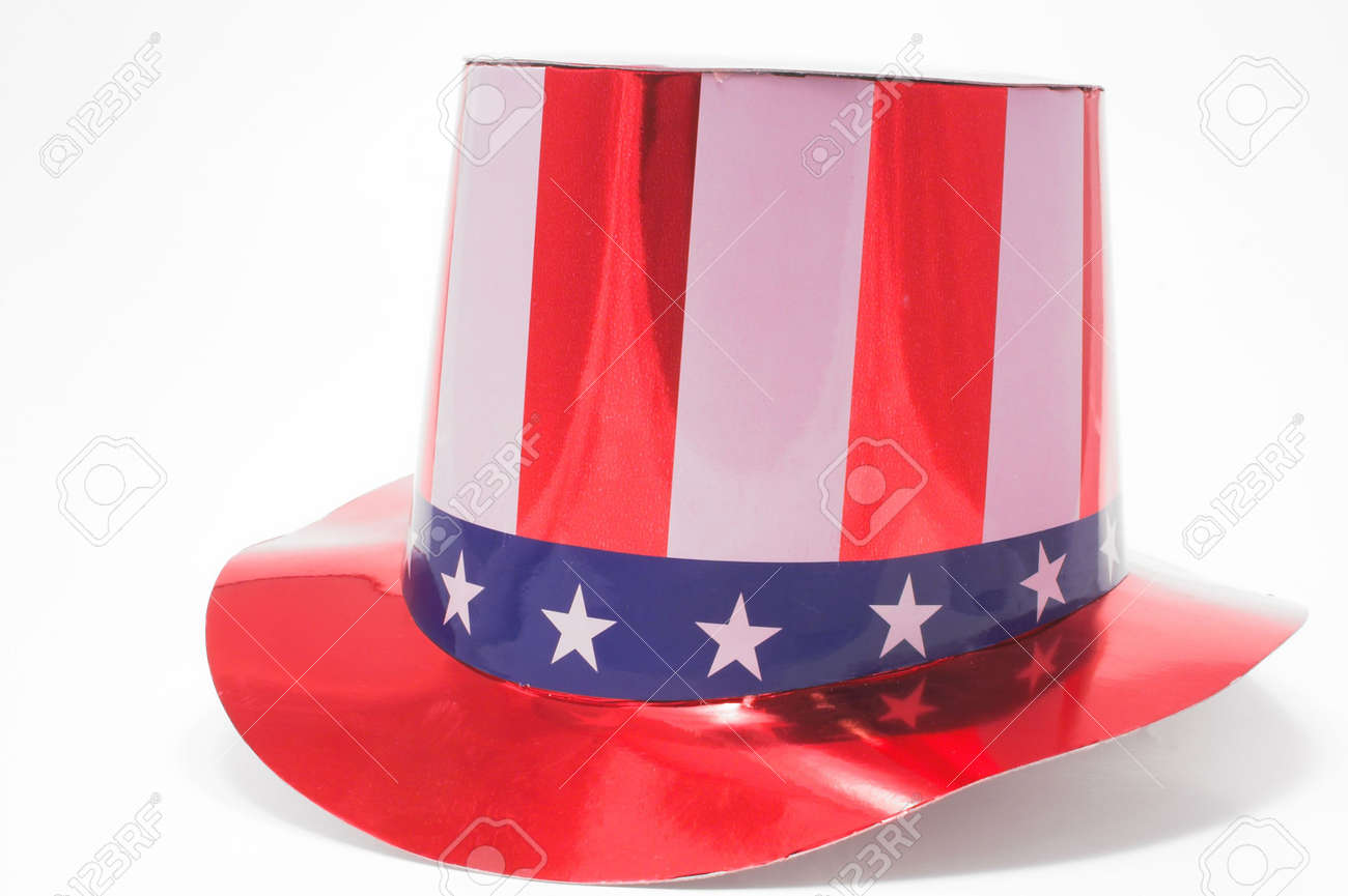 A stars and stripes patriotic top hat. Stock Photo - 923010