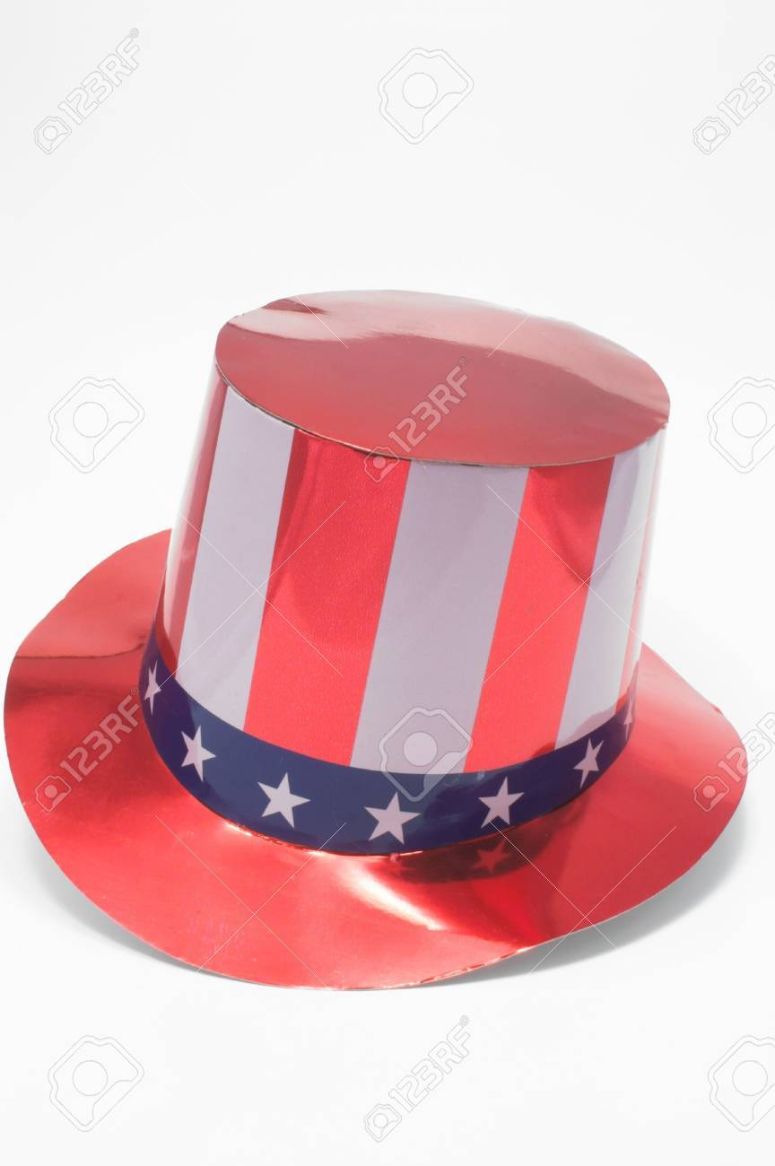 A stars and stripes patriotic top hat. Stock Photo - 923011